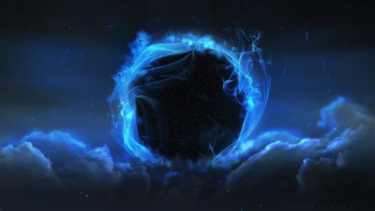 蓝色阴霾中的黑洞