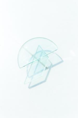 几何玻璃交叠清新倒影