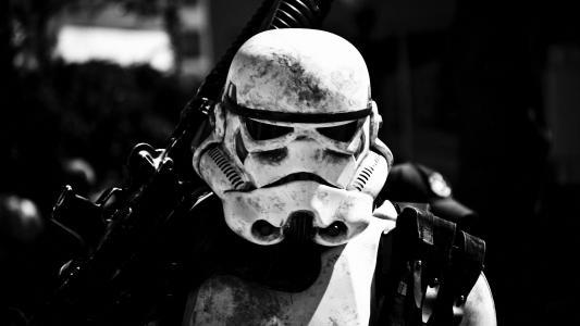 黑白,星球大战,赛博朋克