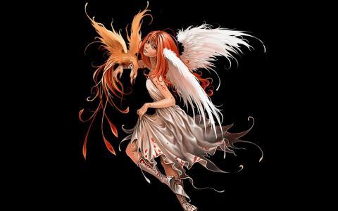 天使与一只鸟