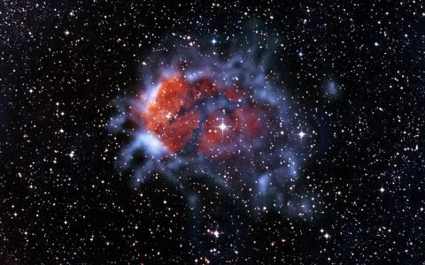 在空间发射星云