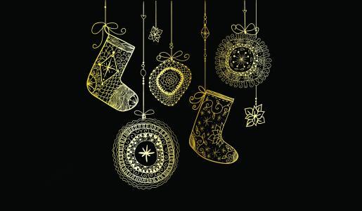 礼物的圣诞节袜子