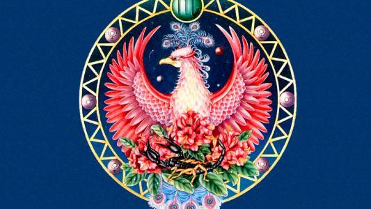 黄道十二宫天蝎座绘图的标志