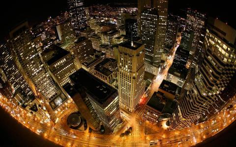 从上面的城市的看法