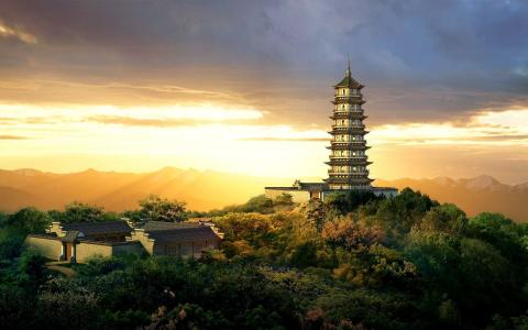 东南亚的宝塔