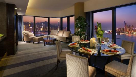 客厅俯瞰香港