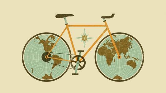 自行车地球地球