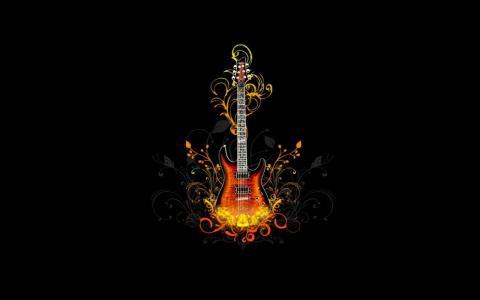 吉他的装饰品