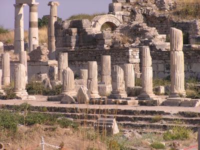 在以弗所,土耳其的古代遗址