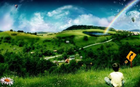夏天在村里