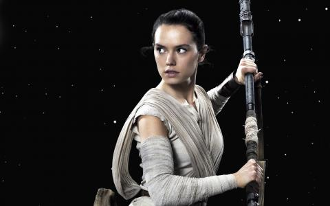 女主角黛西雷德利,字符雷伊电影星球大战。