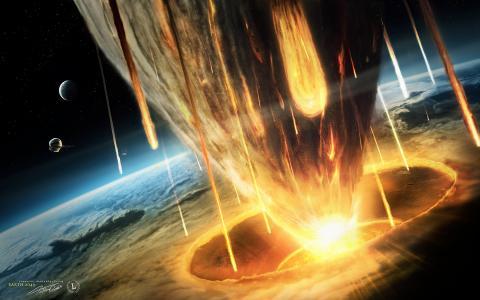 地球上一颗彗星的陨落