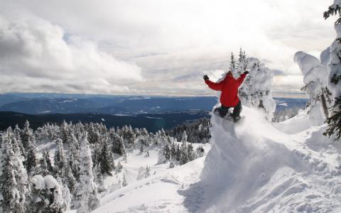 极端的滑雪板