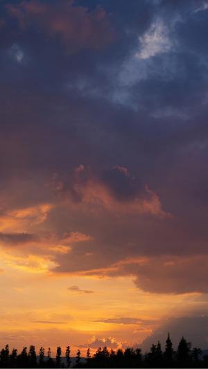 傍晚黄昏美景