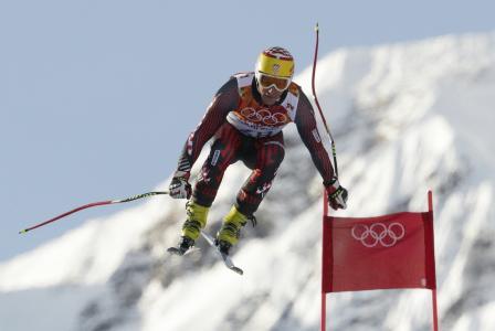 伊维察Kostelic克罗地亚滑雪者有一枚银牌