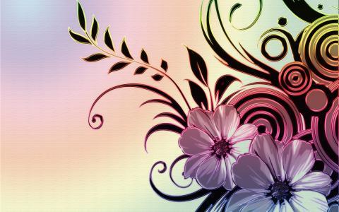 抽象的花束