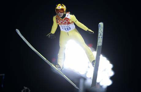 日本选手Kasai Noriaki,跳板持有银牌铜牌
