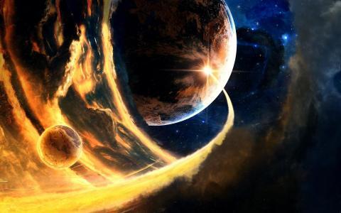 行星之间的冲突