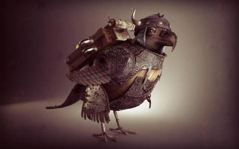 作战装甲的鸟