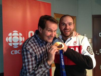 加拿大滑雪运动员Jan Hudek在索契奥运会上获得铜牌