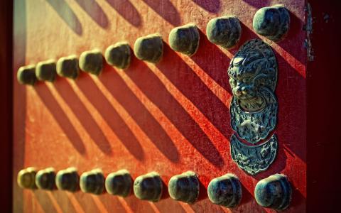 在中国的前门装饰品