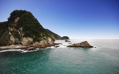 新西兰的岸边