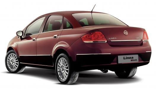 新车菲亚特Linea,深褐色的颜色