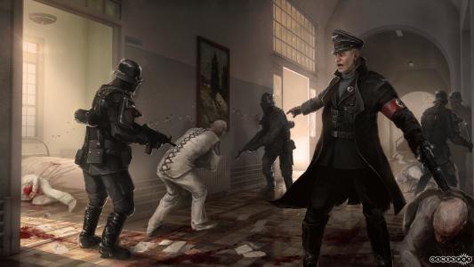 在游戏场景Wolfenstein新秩序