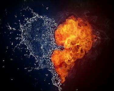 在情人节那天火和水