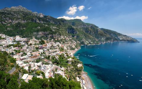 惊人的阿马尔菲海岸,意大利