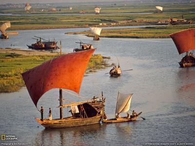 渔民的帆船