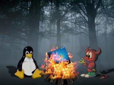 Linux烧伤Windows