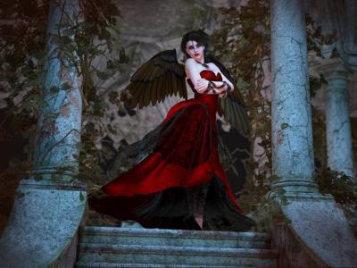 穿着红色的天使
