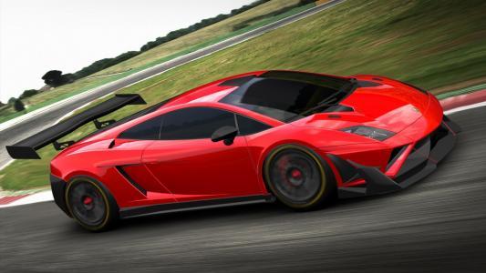 红色兰博基尼Gallardo GT3 a2