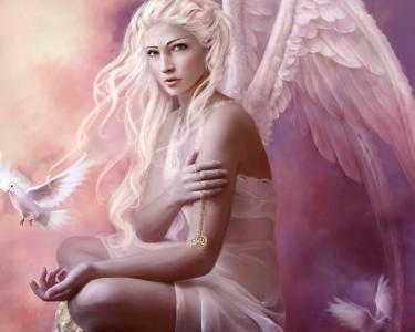 天使与金吊坠