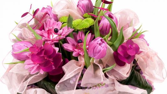 紫色的花束