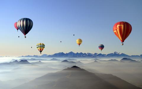天空,气氛,气球