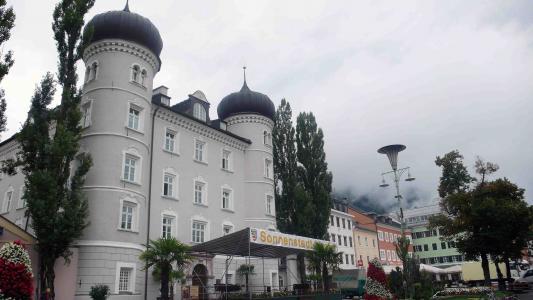 美丽的建筑在利恩茨,奥地利的度假胜地