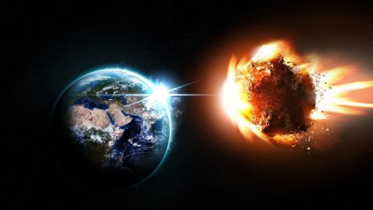 火热的小行星接近地球
