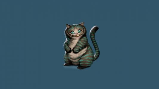 猫与绿色的颜色