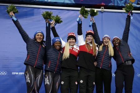 来自加拿大索契2014年奥运会金牌的Cayley Humphries