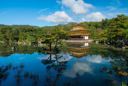 日本京都金阁寺建筑风景