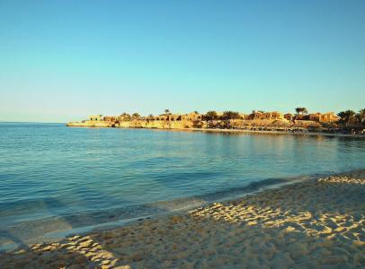 在El Quseir,埃及度假村的海滩
