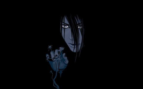 那个女孩从黑暗中走出来,动画片