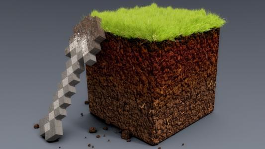 绿草地,我的世界,铲,现实