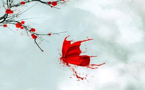 红色的蝴蝶,日本模式