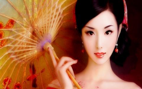 日本女孩的肖像