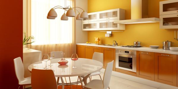 红色的黄色厨房
