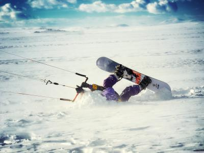 雪,极端,滑雪板