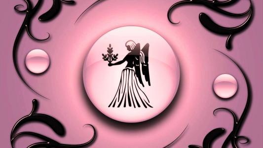 黄道十二宫处女座粉红的底色与黑色的装饰